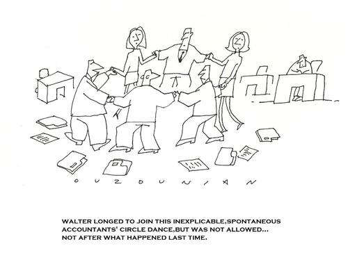 Cartoon: ouzounian (medium) by ouzounian tagged accounting,job,dance,coworkers