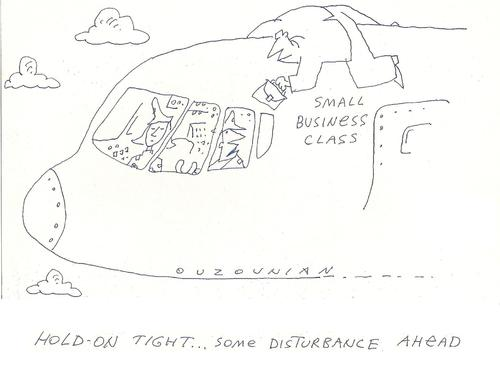 Cartoon: air travel and stuff (medium) by ouzounian tagged passengers,business,travel,airplanes