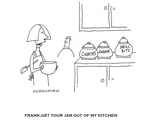 Cartoon: ouzounian (medium) by ouzounian tagged kitchens,wives,husbands,women,men,marriage