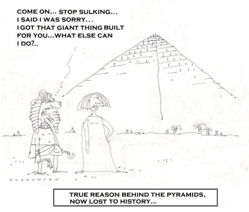 Cartoon: pyramid (medium) by ouzounian tagged pyramids,egypt,relationships,men,women