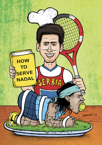 Djokovic How To Serve Nadal By Dragas Sports Cartoon Toonpool