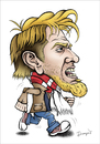 Cartoon: Robert Prosinecki (small) by dragas tagged robert,prosinecki,croatia,red,star,fotbal,serbia,lion
