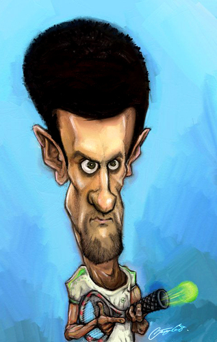 Novak Djokovic By Stajevskiart Sports Cartoon Toonpool