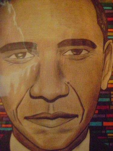Cartoon: barack obama (medium) by odinelpierrejunior tagged portraits,drawings,cartoons,paintings,images,designs,pictures