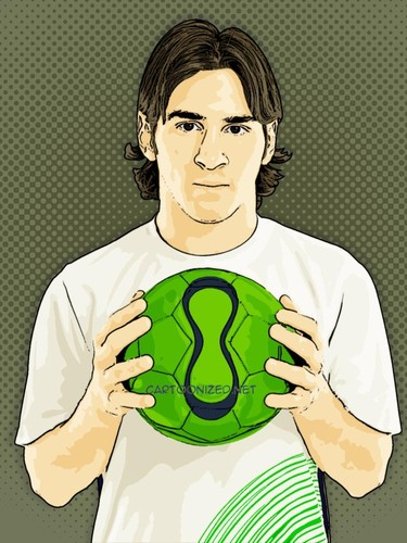 Lionel Messi By Cartoon Photo Famous People Cartoon Toonpool