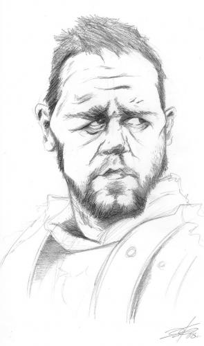Cartoon: Russel Crowe (medium) by James tagged karikatur