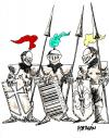 Cartoon: CODIGO DE BARRAS (small) by HCATALAN tagged caballeros,escudo,codigo,barras