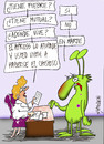 Cartoon: MARCIANO EN EL APROSS (small) by HCATALAN tagged gripe,marciano,apross,hcatalan,catalan,cordoba,argentina