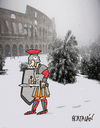 Cartoon: NIEVE EN ROMA (small) by HCATALAN tagged roma,gladiador,nieve,snow,frio