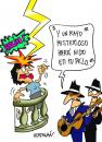 Cartoon: SERENATA EFECTO SIMULTANEO (small) by HCATALAN tagged tango,amor,serenata,cancion,rayo