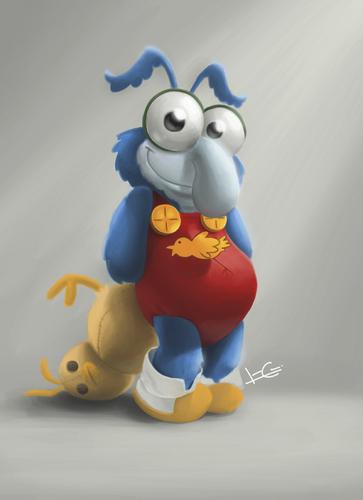 Cartoon Gonzo Muppets Babies Medium By Ilustraguga Tagged Digitalillustration