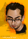 Cartoon: Antonio Esfandiari (small) by ilustraguga tagged digital,illustration,portrait,poker