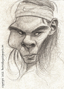 Cartoon: Rafael Nadal (small) by ilustraguga tagged rafael,nadal,tradicional,illustration