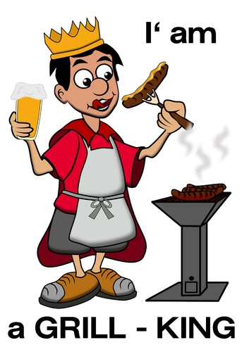 Cartoon: der King am Grill (medium) by RiwiToons tagged grill,barbecue ...