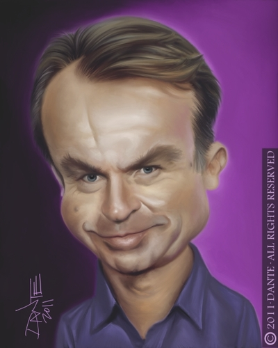 Cartoon Sam Neill Medium Dante Tagged Caricature