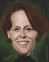 Cartoon: Sigourney Weaver Caricature (small) by Dante tagged sigourney,weaver,caricature