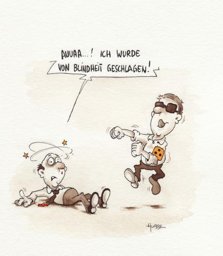 Cartoon: blindheit geschlagen (medium) by ms rainer tagged blindheit,boxen,