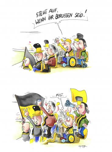 Borussen By Ms Rainer Sports Cartoon Toonpool