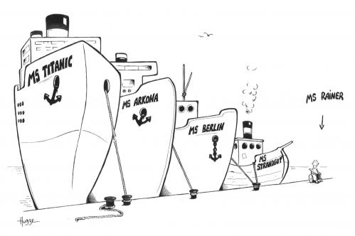 Cartoon: ms rainer (medium) by ms rainer tagged hafen,schiffe