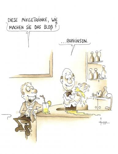Cartoon: parkinson (medium) by ms rainer tagged mixgetränke