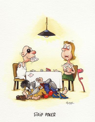Cartoon: strip poker (medium) by ms rainer tagged poker,handicap,