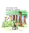 Cartoon: niederwild (small) by ms rainer tagged rollstuhl,jagd,wild,wald