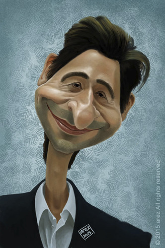 Cartoon: Adrien Brody (medium) by areztoon tagged adrien,brody,caricature