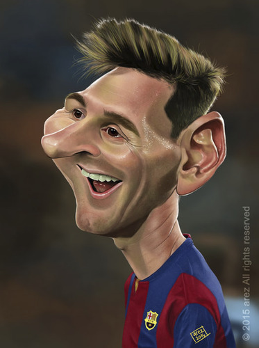 Cartoon: Lionel Andres Leo Messi (medium) by areztoon tagged caricature,karikatur,fcb,barca,barcelona,argentina
