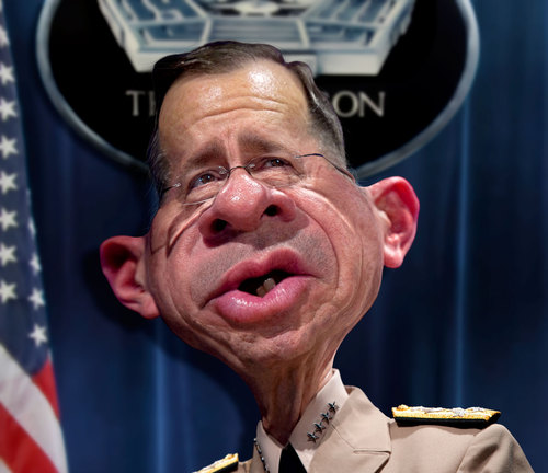 Cartoon: Admiral Mike Mullen CJCS (medium) by RodneyPike tagged admiral,mike,mullen,cjcs,art,caricature,humor,illustration,manipulation,photo,photomanipulation,photoshop,pike,rodney,rwpike,digital,graphic,celebrity,political,satire