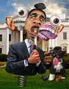 Cartoon: Presidential Malfunction (small) by RodneyPike tagged barack obama caricature illustration rwpike rodney pike