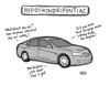 Cartoon: Hypochondripontiac (small) by a zillion dollars comics tagged automobile,car,psychology,complaining,worry,anxiety