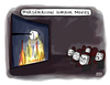 Cartoon: Marshmallow Horror Movies (small) by a zillion dollars comics tagged media,film,movies,entertainment,camping,food,fear,terror