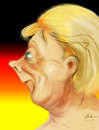 Cartoon: Angela Merkel (small) by KryCha tagged merkel,angela,caricature,karikatur,cartoon,zeichnung,angie,kanzler,german,chancellor