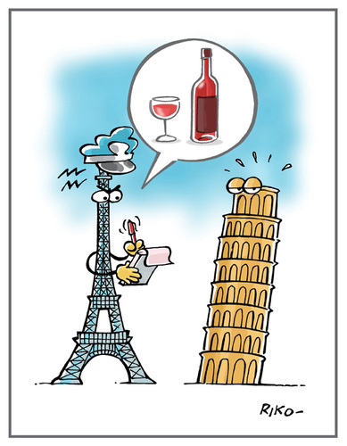 Cartoon: wine (medium) by Riko cartoons tagged riko,italy,france,cartoon,wine