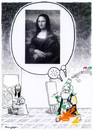 Cartoon: The famous smile of... (small) by Riko cartoons tagged riko,ricciardi,cartoon,gioconda