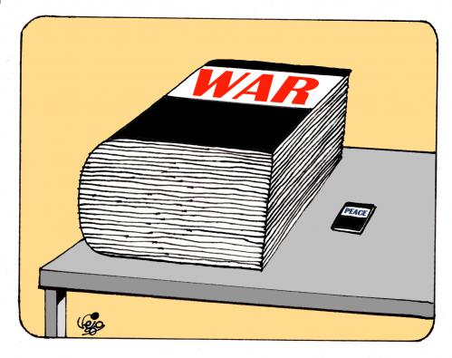 WAR AND PEACE... By Vejo | Politics Cartoon | TOONPOOL