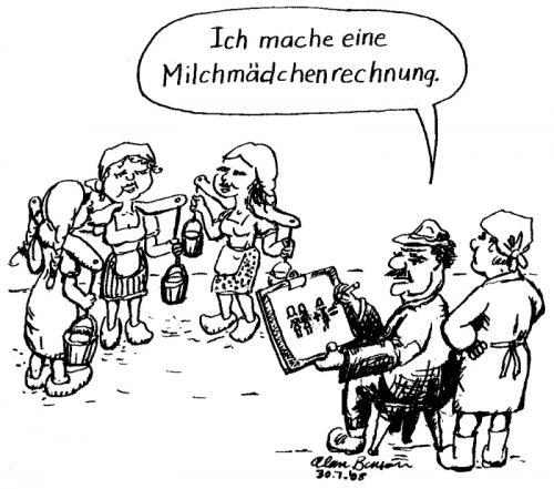 Milchmadchenrechnung By Alan Education Tech Cartoon