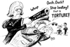 Cartoon: CIA Report on Torture (small) by Alan tagged cia,report,torture,senate