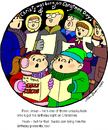 Cartoon: Jesus Birthday (small) by Alan tagged christ,born,christmas,day,family,circle,jesus,birthday,gifts,singing