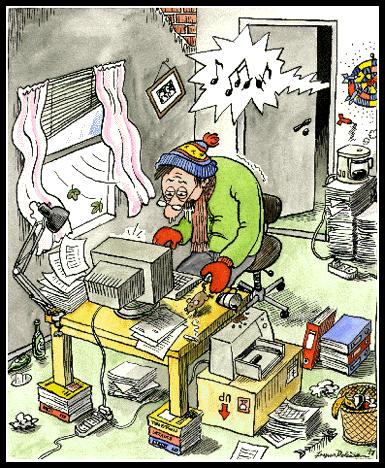 bad working conditions by deleuran business cartoon toonpool. Black Bedroom Furniture Sets. Home Design Ideas