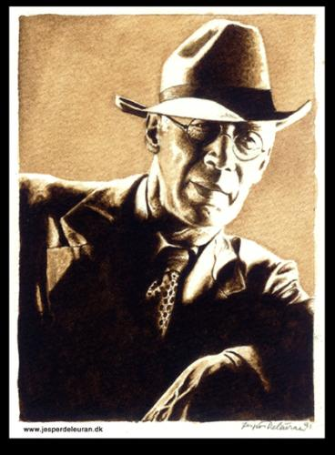 Cartoon: Henry Miller (medium) by deleuran tagged writers,artists,paintings,portraits,watercolor