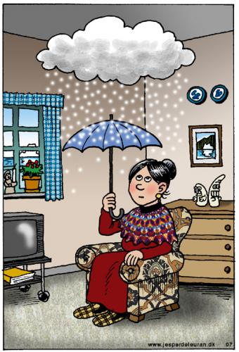 Cartoon: indoor climate (medium) by deleuran tagged housing,climate,greenland,snow,weather,