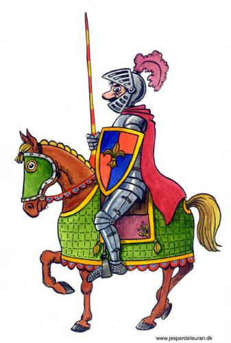Cartoon: Knight (medium) by deleuran tagged knights,horses,history,fairytales,middleages,