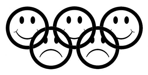 Cartoon: Olympic rings (medium) by deleuran tagged olympics,sport,politics