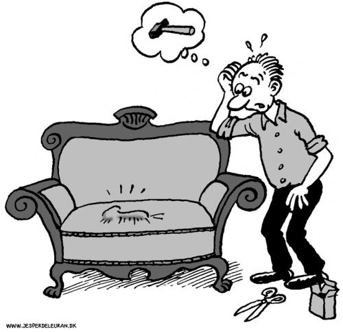 Cartoon: Upholstery (medium) by deleuran tagged upholstery,crafts,work,furniture,tools,