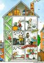 Cartoon: Noise in the house (small) by deleuran tagged noise,houses,apartments,neighbors