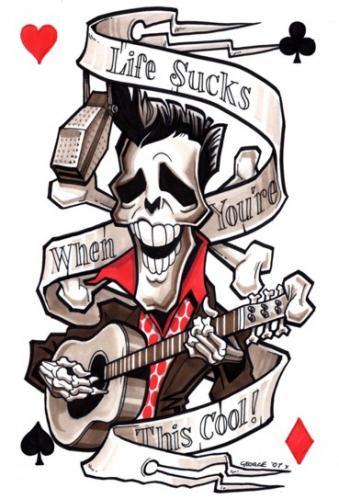 Cartoon: Elvis skeleton (medium) by spot_on_george tagged elvis,presley