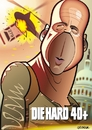 Cartoon: Die Hard 4.0 (small) by spot_on_george tagged bruce,willis,die,hard,caricature