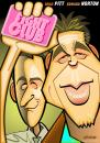 Cartoon: Fight Club (small) by spot_on_george tagged fight,club,brad,pitt,edward,norton,caricature