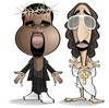 Cartoon: Kanye West (small) by spot_on_george tagged kanye,west,caricature,gq
